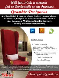 graphic designers at silvas furniture career first graphic
