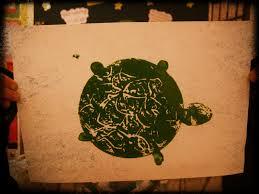 start at 5 turtle printmaking