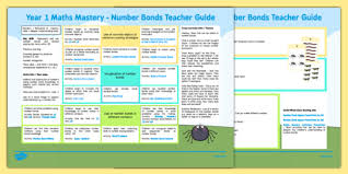 1 maths mastery number bonds teaching ideas