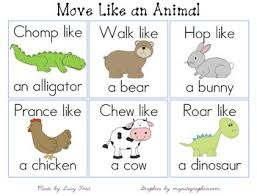 move like an animal cards by northen teachers pay teachers