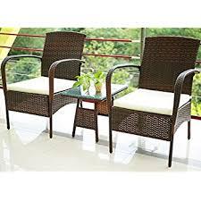 Amazoncom  Belleze PCS Patio Outdoor Rattan Furniture Set - Rattan furniture set