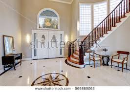 stunning two story entry foyer lots stock photo 566869177