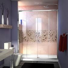 frameless pictures dreamline visions 72 x 60 double sliding semi frameless shower