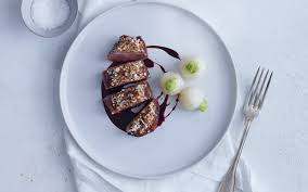 almond caramelized duck with amaretto jus jean georges