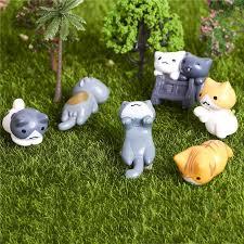 cat mini figurines set of 6 trinketty