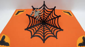 Make A Invitation Card Free How To Make A Pop Up Card Halloween Spiders Web Invitation Card