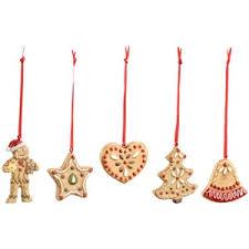 villeroy boch nostalgic gingerbread ornaments set of 5 polyvore
