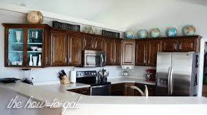 Refinish Your Kitchen Cabinets The How To Gal How To Refinish Kitchen Cabinets