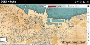Doha Qatar Map Doha The Doha Online Historical Atlas U2013 Launched
