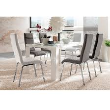 Black Gloss Dining Room Furniture Tizio Glass 120cm Dining Table In White Gloss With 4 Chairs