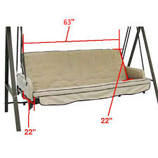 lowes patio swing lowes garden treasures traditional swing replacement cushion sc