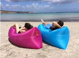 air lounger fast inflatable air bag bed sofa couch outdoor beach