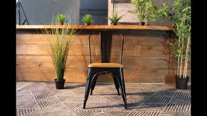 Tolix Dining Chairs Tolix Wooden Seat Dining Chair Youtube