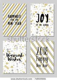 warmest wishes photo card new year cards set world stock vector 746935084