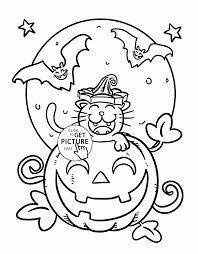 coloring pages cat printable halloween coloring pages