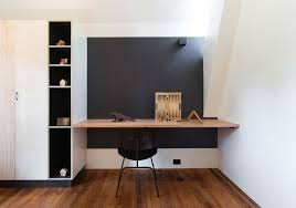 Wall Desk Ideas Architecture Stylish Private Stonewood Home Office With Built In