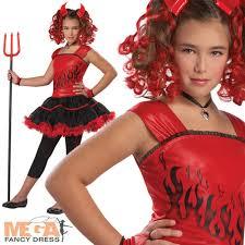 Kids Cheetah Halloween Costume Girls Sassy Red Devil Halloween Fancy Dress Kids Costume Ages 6 7