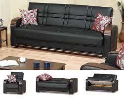 Black Sofa Bed Chicago Furniture Click Storage Black Sofa Bed
