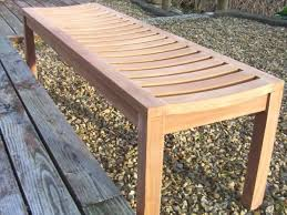 5ft Garden Bench Teak Backless Bench
