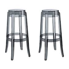 Ghost Bar Stools Set Of 2 Victoria Style Ghost Bar Stool White Color