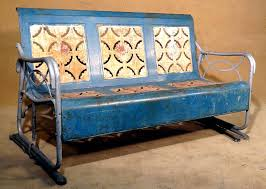Metal Sofa Glider How To Refinish Your Own Old Metal Glider And Old Metal Glider