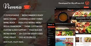 themes wordpress restaurant free vienna v2 2 7 responsive wordpress restaurant theme wpmania