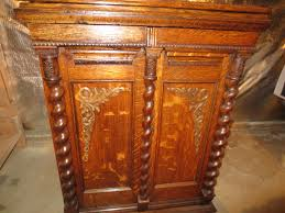 Sewing Machine Cabinets For Pfaff Early 1900s Oak Treadle Parlor Sewing Machine Cabinet After