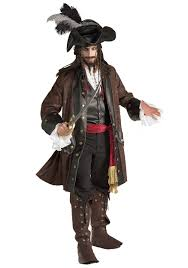 Authentic Caribbean Pirate Costume Deluxe Halloween