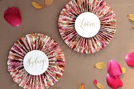 diy paper fans diy tutorial patterned paper place card fans