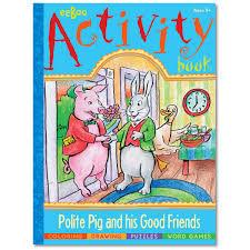 eeboo activity book polite pig word games puzzles coloring