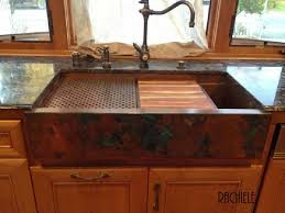 Farmhouse Sink Installation In Existing Cabinet - Copper sink kitchen