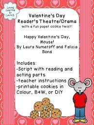 happy s day mouse s day reader s theatre drama with a paper cookie