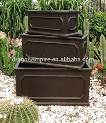 Tall Rectangular Planter by Rectangular Planter Box Large Root And Stock Calistoga Tall