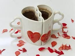 Heart Shaped Mug heart shaped cups of coffee u2014 stock photo dimijana 10429378