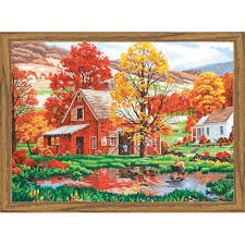 paintworks friends of autumn paint by number kit