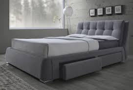 Queen Size Platform Bed Fenbrook Grey Queen Size Bed With Storage 300523q Savvy Discount