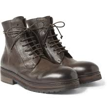 marsèll rubber soled leather boots in brown for men lyst