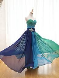 robe de soiree tropical chiffon peacock evening dress blue vestido