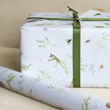 botanical wrapping paper botanical wrapping paper 3 sheets in the meadow gift wrap pale