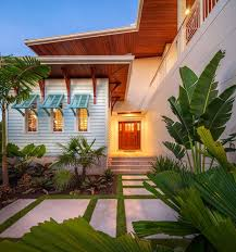 beautiful tropical small front yard landscape design with mini