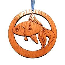 camic designs wc001n laser etched goldfish ornaments set of 6