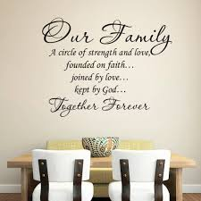 wall decor ideas diningrooms diy family quote wall vinly