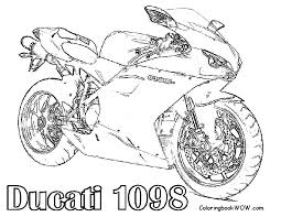 free motorcycle coloring page letscoloringpages com ducati 1098