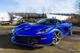 ferrari laferrari crash the laferrari looks best in blue