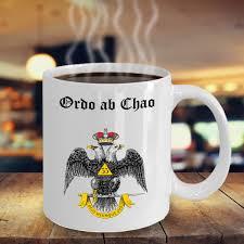 Masonic Home Decor Freemason Coffee Mug Ordo Ab Chao Cup Masonic Gifts