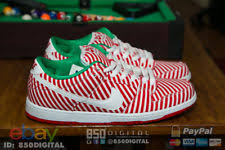 nike dunk low premium sb candy canes christmas skateboarding shoes