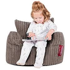 Toddlers Armchair Lounge Pug Childs Armchair Bean Bag Cord Mink Amazon Co Uk