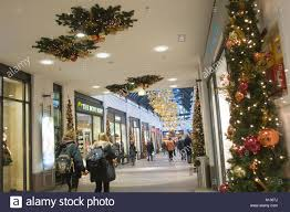 shopping mall with christmas decorations in lubeck christmas