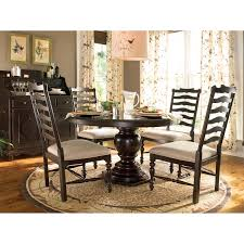 paula deen home 5 piece round pedestal dining table set tobacco