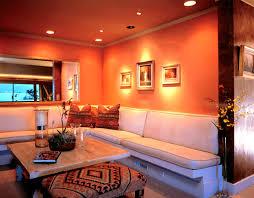 orange living room decor rugs coffee table pillows teal orange